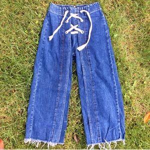 TOPSHOP wide leg jean